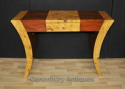 Art Deco Console Table Walnut Rosewood 1920s Tables