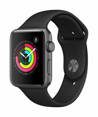 Apple Watch Series 3 42mm Space Gray Aluminum - Black Sport Band
