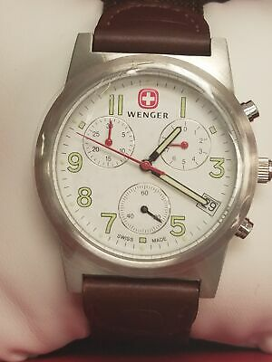 Wenger Field Classic White Dial Canvas Strap Men's Watch 72950W