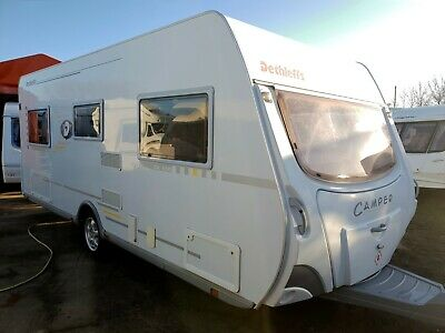 Dethleffs Camper Dl 550 4 Berth Fixed Bed Touring Caravan With Accessories