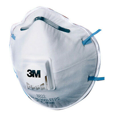 3M Cup Shaped Respiratory Mask With Valve P2v (pack of 10) - 8822 FFP2