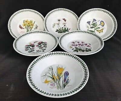 Portmeirion - Botanic Garden - 6 x Soup Bowls - Excellent Condition
