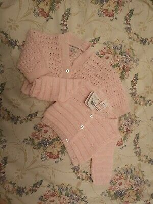 0 - 3 Month Pink Baby Girl Knitted Cardigan Bundle