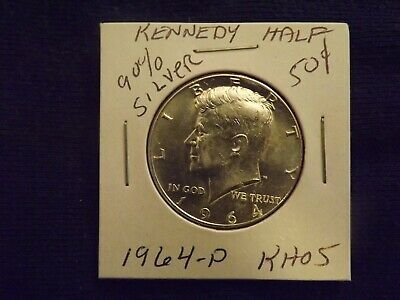 1964 P Kennedy 90% Silver Half Dollar Coin  Rev. Eagle  Bullion Sangria Horde 5