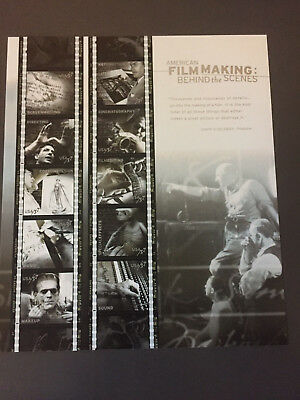 American Film Making Behind The Scenes Stamps 37 Cents US Sheet