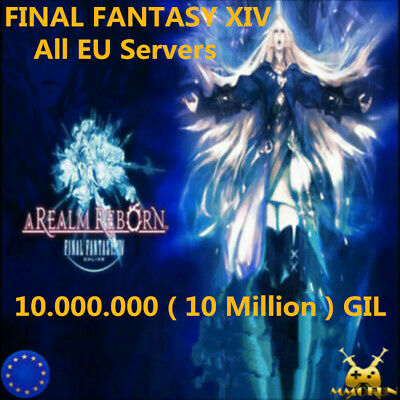 FINAL FANTASY XIV FFXIV FF14 GIL 10000K 10 MILLION 10M All EU Server GILS Item