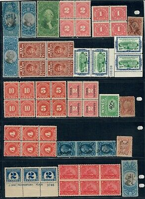US Revenues, Lot of 375+ Stamps, Mint and Used.