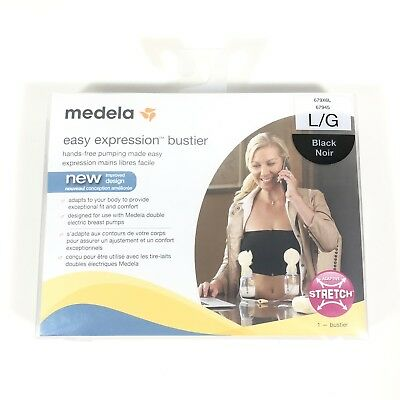 Medela Easy Expression Bustier for Easy Hands Free Pumping Black Large NEW