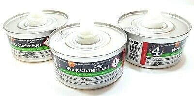 3 Pcs Zodiac Wick Chafer Fuel 4 Hour Burn Time Each For Outdoors Party Occasions