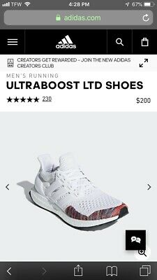 8ab848ad4 Adidas Ultraboost Ltd Running Shoes Bb7800 New Mens White multicolor Ultra  Boost