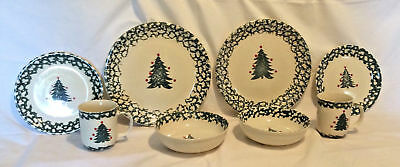Winter Wonderland Christmas Dishes Set by Tienshan 8 pieces cups bowls plates
