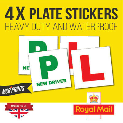 x4 Heavy duty L & P Sticker Plate, Legal Sticker Self Adhesive