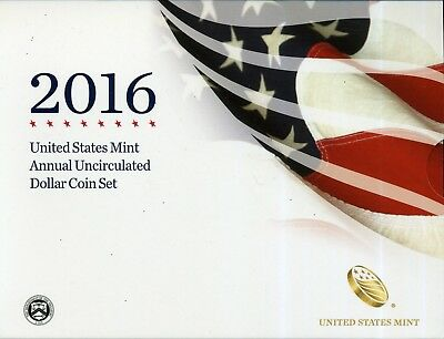 2016 United States Mint Annual Uncirculated Dollar Coin Set