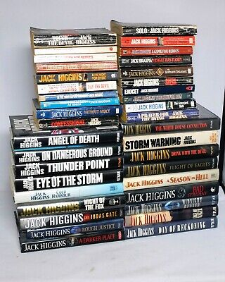 Jack Higgins Book Collection Hardcover Paperback 38x Books Used