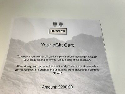 Hunter Gift Card Voucher £200