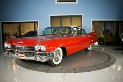 1959 Cadillac Coupe Deville  Bright Red and White