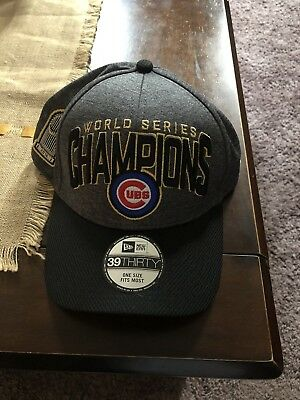 6400012ef1217 Chicago Cubs New Era 2016 World Series Champions Locker Room Players Hat  Cap NEW