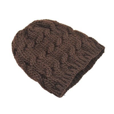 Unisex Stretchy Soft Cable Knit Slouchy Beanie Hat