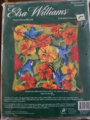 "Elsa Williams ""Nasturium Pillow"" Needlepoint Kit"