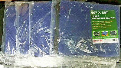 "4 lot -  Pack of 2 (8pcs total) 40""x50"" Non Woven Moving / Packing Blanket - NEW"