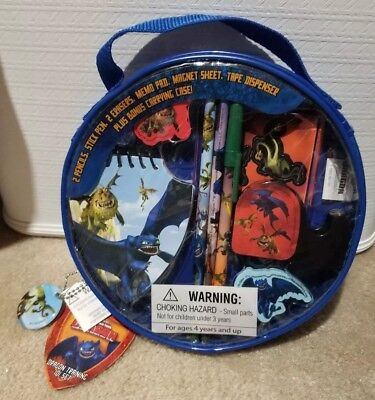 2010 Dreamworks How To Train Your Dragon Stationery Set Dragon Training 101-NEW