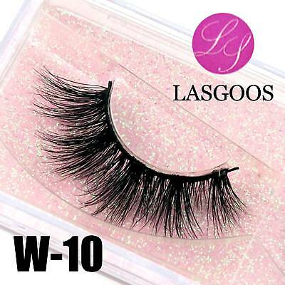 W-10 Full Strips 3D Messy Mink Tapered Mixed Crossing False Eyelashes Extension