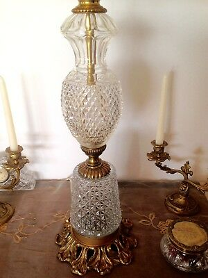 AMAZING TALL VINTAGE TABLE LAMP with CREAM SHADE