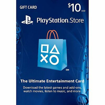 PlayStation Network Gift Card 10 USD PSN UNITED STATES (Email Delivery)