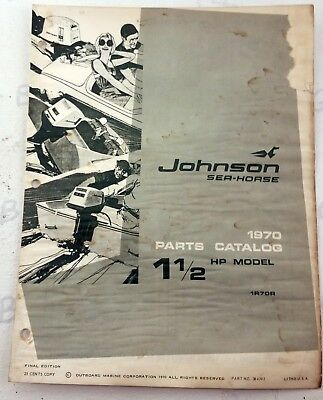1970 JOHNSON 1 5HP Outboard Motor 1R70R Parts Manual