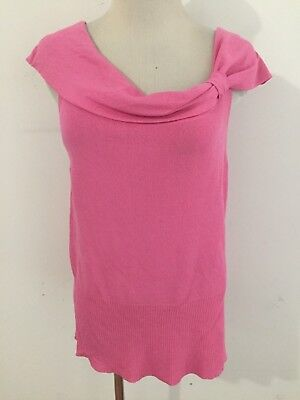 NWT Ann Taylor Geometrical Asymmetrical Crossover Ruched Knit Top $40 NEW
