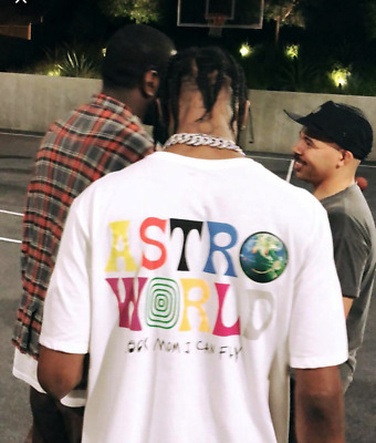 TRAVIS SCOTT ASTROWORLD T-SHIRT white tour concert merch off hip hop supreme hat
