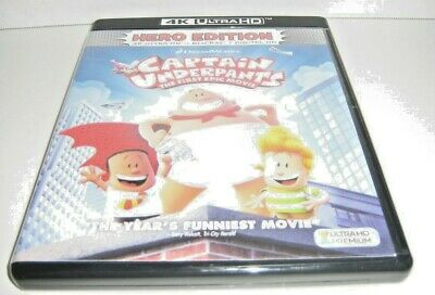 Captain Underpants First Epic Movie (4k Ultra HD Disc and Blu-ray Disc 2017)