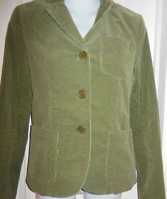Theory Womens Teens  Green Cord Blazer Jacket Size 0 EUC