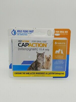 PETACTION CAPACTION 6 tablets For dogs and cats 2-25 lb *compare to capstar