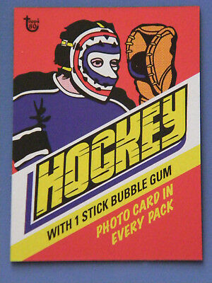 2018 Topps 80th Anniversary Wrapper Art Card #93 - 1977 Hockey
