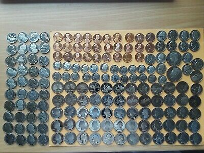 Lot of Proof Coins. Mix lot: 1,5,10,25 & 50 cents. Total 169 coins. see details
