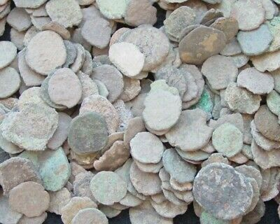 Lot Of A 12 Nice Ancient Roman Cull Coins Uncleaned & Extra Coins Added..