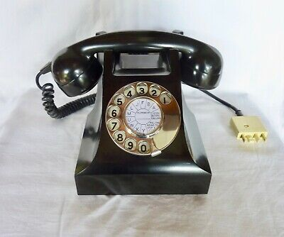 Vintage Black Bakelite Phone. Fully working.Stunning.C1950/60.