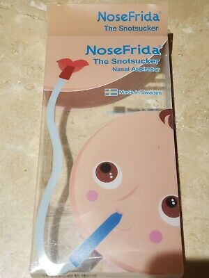 NoseFrida Nasal Aspirator Snotsucker Baby Sucker with 3 unused Hygiene Filter