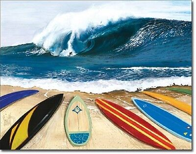 641abf11b4 Westmoreland Wait Your Turn Surf Competition Hawaii Vintage Retro Metal Tin  Sign