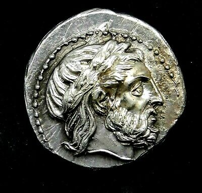Philip II. Magnificent Tetradrachm. Father of Alexander the Great. Greek Coin.