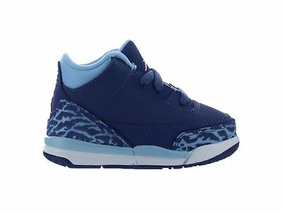 ca60336f1f7d Kids Air Jordan Retro 3 III TD Dark Purple Dust Atomic Pink Blue 654964-506