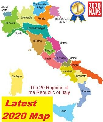 Latest Italy Map 2019 for Garmin GPSs