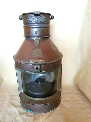 Boat lamp. Antique Sydney Harbour seahorse stern tugboat kerosene light.