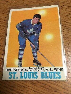 """O-Pee-Chee Hockey 1970-71 Brit Selby Card 111 With """"traded From Toronto"""" Leafs"""