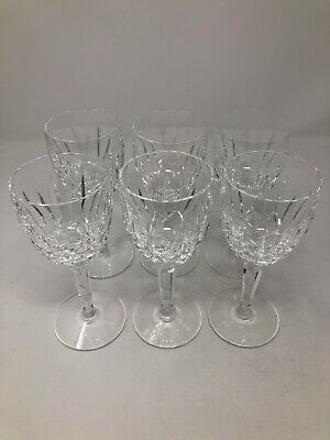Waterford Crystal Kildare Set of 6 Claret Wine Glasses 6 1/2""