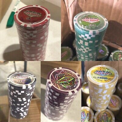 Sleeve Of 25 Las Vegas Casino Chips You Choose Color NEW