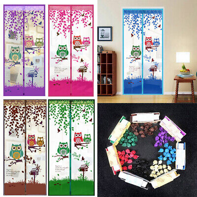Owl Style Magic Door Magnetic Anti Bug Mosquito Curtain Mesh Screen Guard Net