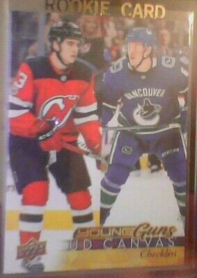 17-18 Brock Boeser Nico Hischier Young Guns Cl Canvas #c240 Yg Rookie Rc Bv $30