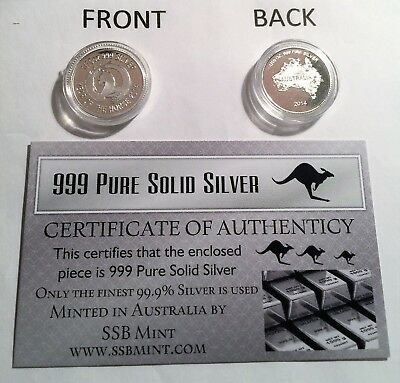 """2014 """"YEAR OF THE HORSE"""" 1/10th OZ 999.0 Pure Solid Silver Coin with C.O.A."""